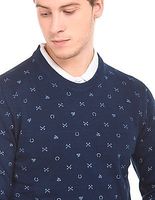 U.S. Polo Assn. Denim Co. Printed Muscle Fit Sweater