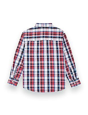 Nautica Kids Boys Regular Fit Check Shirt