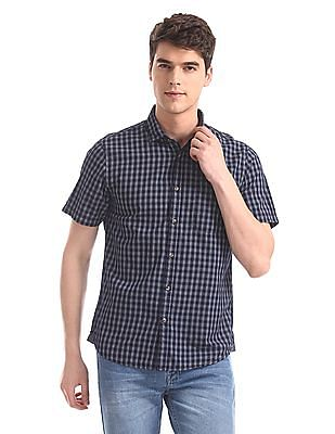 Ruggers Blue Patch Pocket Check Shirt