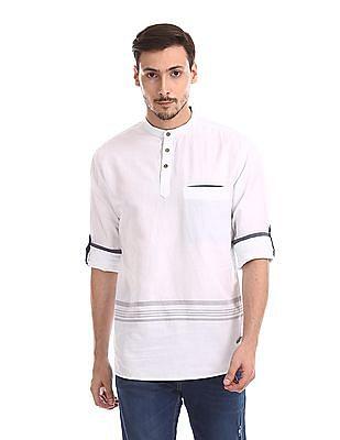 Cherokee Long Sleeve Mandarin Collar Shirt