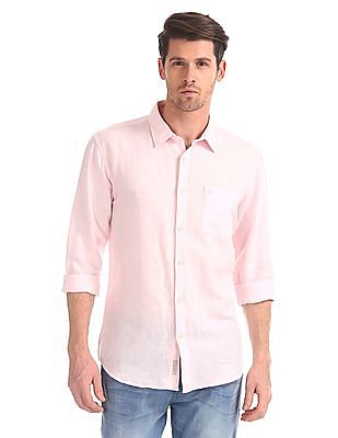 Arvind Slim Fit Long Sleeve Shirt