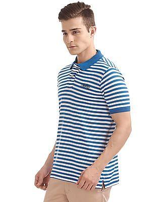 Cherokee Striped Regular Fit Polo Shirt