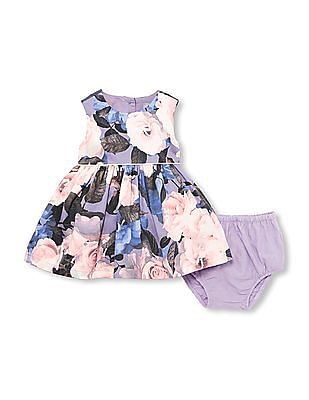 The Children's Place Toddler Girl Purple Sleeveless Rose Print Dress
