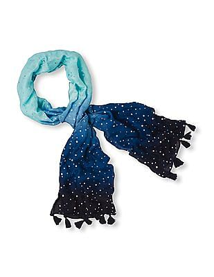 The Children's Place Girls Dip Dye Embellished Scarf