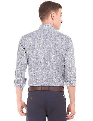 Arrow Sports Button Down Printed Shirt