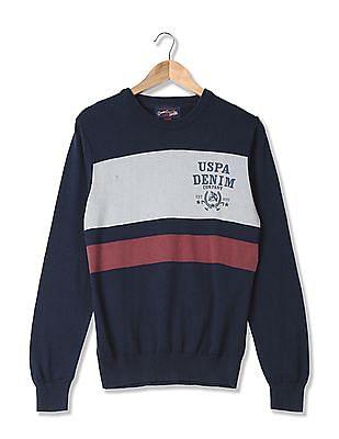 U.S. Polo Assn. Denim Co. Standard Fit Striped Sweater