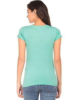 Cherokee Graphic Print Cotton T-Shirt
