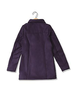 U.S. Polo Assn. Kids Girls Double Breasted Pea Coat