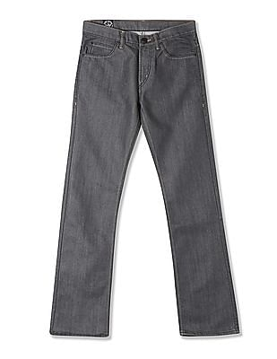 Flying Machine Slim Straight Fit Washed Jeans