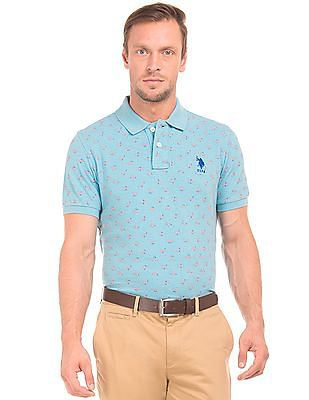 U.S. Polo Assn. Printed Pique Polo Shirt