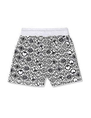 Colt Boys Marvel Print Knit Shorts