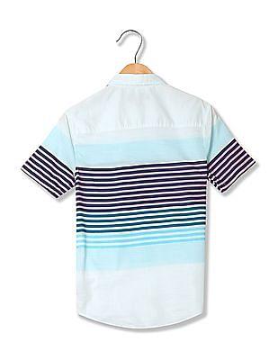 Aeropostale Spread Collar Stripe Shirt
