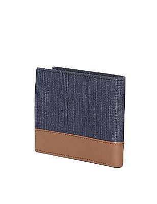 Flying Machine Blue Colour Block Bi-Fold Wallet