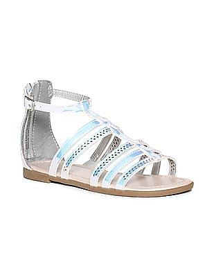The Children's Place Silver Girls Hologram Gladiator Sandals
