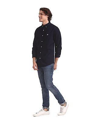 Aeropostale Blue Washed Denim Shirt