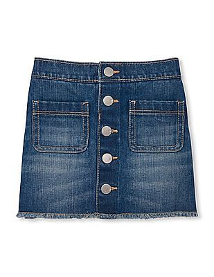 The Children's Place Baby Button Front Denim Skirt