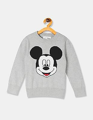 GAP Grey Toddler Boy Mickey Mouse Graphic Crew Neck Sweater
