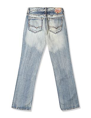 Flying Machine Women Blue Regular Straight Fit Washed Jeans