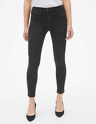 GAP Mid Rise Favourite Ankle Jeggings with Raw Hem