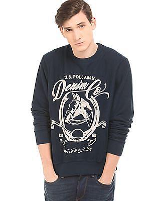 U.S. Polo Assn. Denim Co. Printed Reverse French Terry Sweatshirt