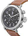 U.S. Polo Assn. Leather Strap Multifunction Watch