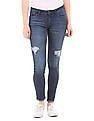 Elle Skinny Fit Distressed Jeans