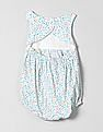 GAP Baby White Floral Bubble One-Piece