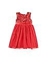 Cherokee Girls Sequin Embellished Fit And Flare Dress