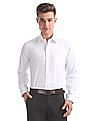 Arrow Patterned Weave Wrinkle Resistant Shirt