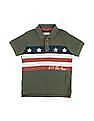U.S. Polo Assn. Kids Boys Flag Print Pique Polo Shirt