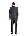 Arrow Body Tailored Regular Fit Patterned Weave Suit