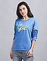 GAP Rib Sweat-Tee With Dense Pile Embroidery At Chest