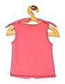 Donuts Girls Bow Trim Printed Top
