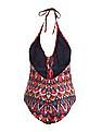 Aeropostale Printed Lace Up Swimsuit