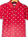 U.S. Polo Assn. Kids Boys Ribbed Collar Star Print Polo Shirt
