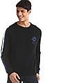U.S. Polo Assn. Black  Crew Neck Contrast Stripe Sweatshirt