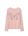 GAP Girls Embellished Graphic Long Sleeve Tee