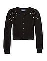 The Children's Place Girls Pearl Embellished Knit Cardigan