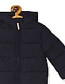 The Children's Place Blue Toddler Girl Puffer Hooded Jacket
