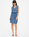 GAP Perfect Sleeveless Tie-Waist Shirt Dress In Tencel™