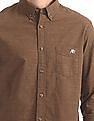 Aeropostale Regular Fit Patterned Weave Shirt