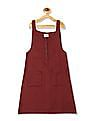 Cherokee Red And Black Girls Patterned Pinafore Dress