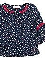 U.S. Polo Assn. Kids Girls Polka Dot Printed Belle Sleeve Top