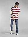 GAP Red Vintage Slub Jersey Stripe Crewneck T-Shirt