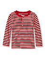 The Children's Place Baby Boy Striped Henley T-Shirt