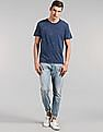 GAP Men Blue Short Sleeve Washed Crew