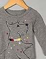 GAP Baby Grey Embellished Graphic Slub Tee