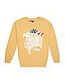 FM Boys Printed Slim Fit Sweater