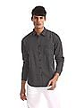 Roots by Ruggers Black Mitered Cuff Check Shirt