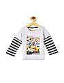 Donuts Grey Boys Doctor Sleeve Crew Neck T-Shirt